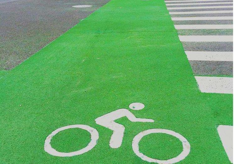 彩色沥青路面图片