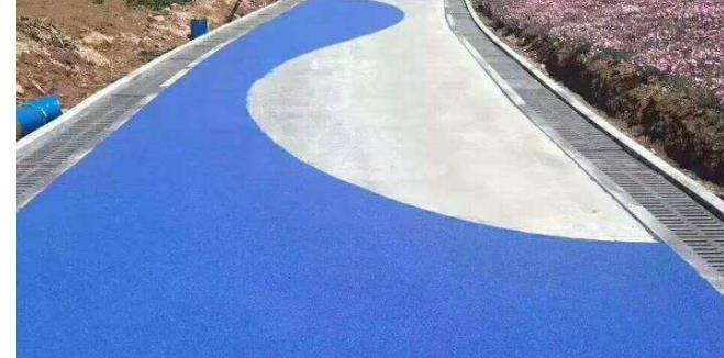 人行道彩色防滑路面