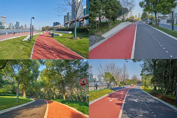 彩色防滑路面施工图片