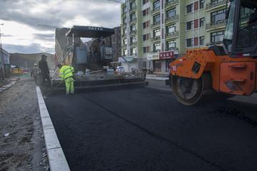 宁波彩色沥青混凝土路面施工