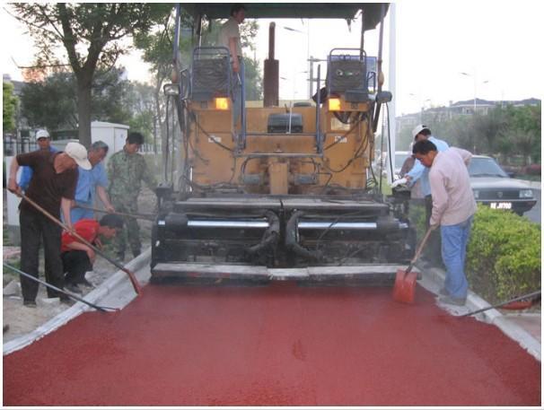 彩色沥青混凝土施工
