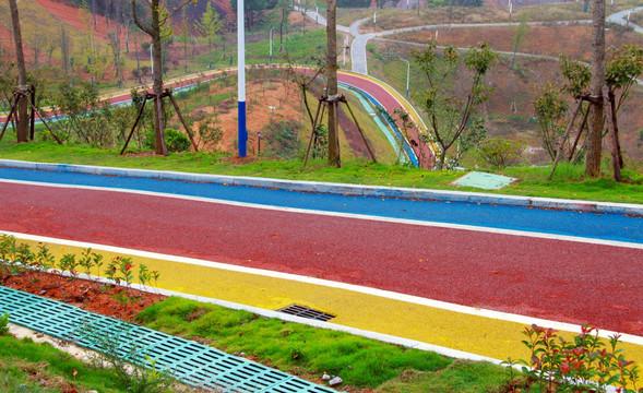 彩色透水沥青路面做法