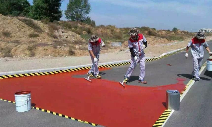 防止彩色防滑路面出现伸缩缝的措施