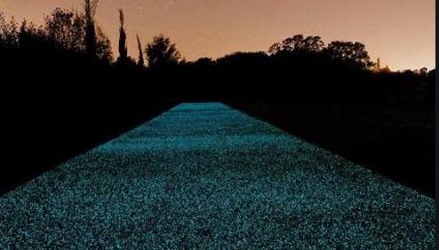 夜光石路面