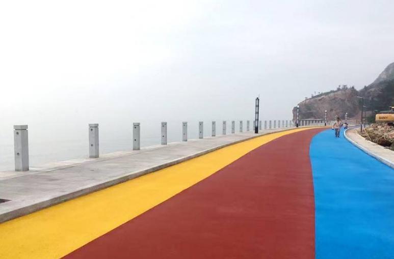 彩色透水地坪路面