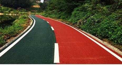 彩色喷涂路面自动车道