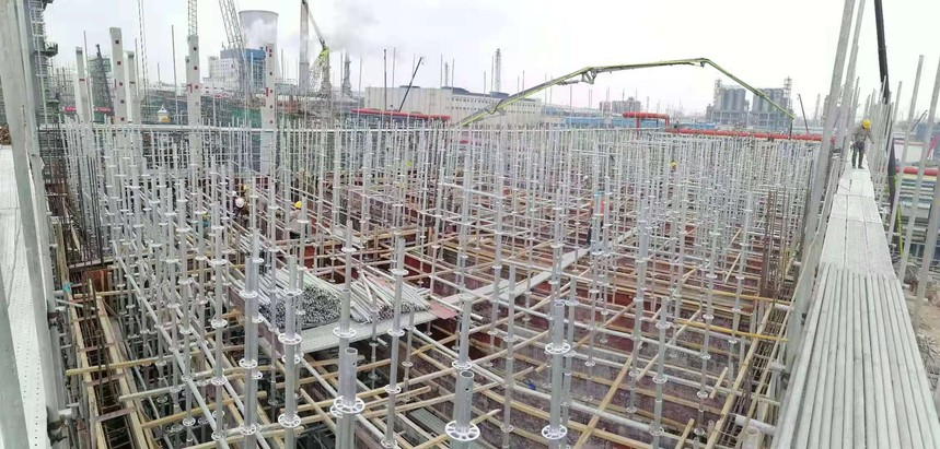 浙江镇海项目-循环水北侧框架16米层砼浇筑.jpg