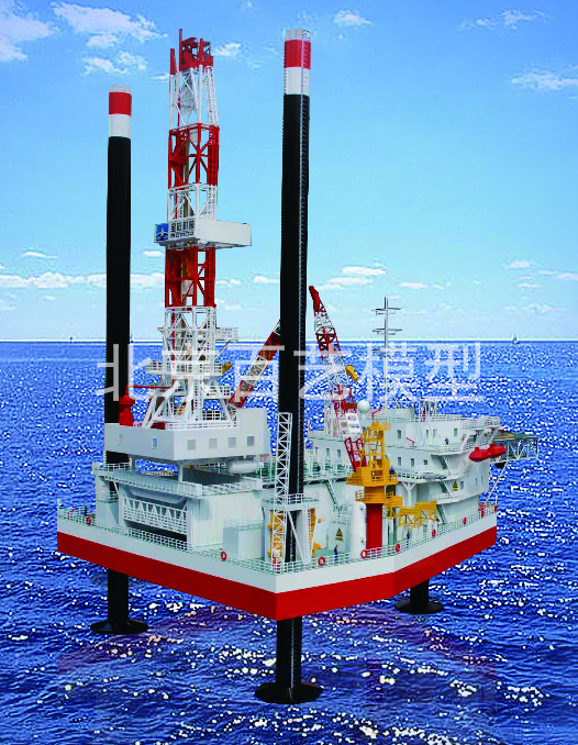 宝石海洋自升式井架模型