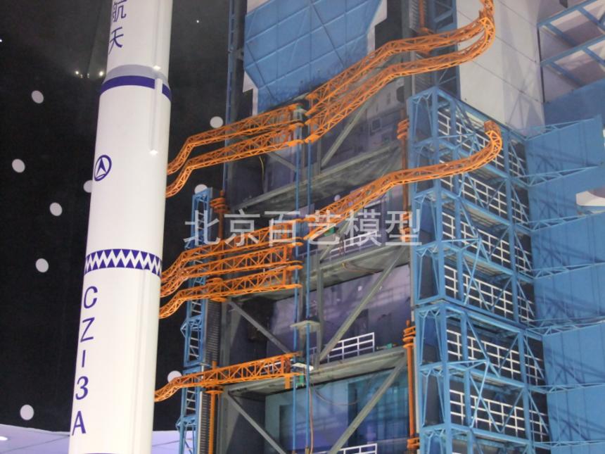 西昌卫星发射塔架模型