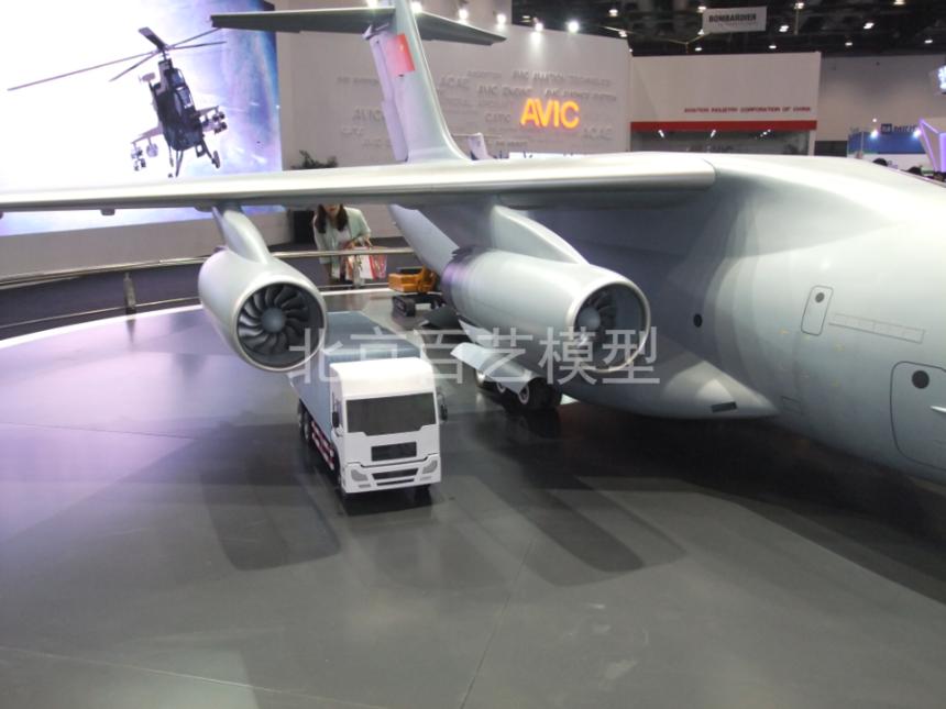 中航工业大型运输机模型