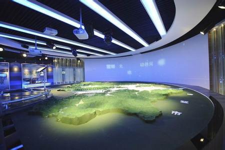 银川城市规划展示馆,数字沙盘