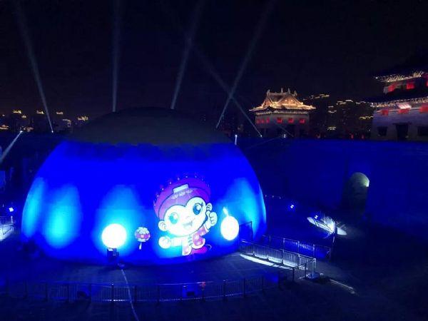 2018古均灯会 360度球幕光影秀 造成全景式身临其境的美丽体验