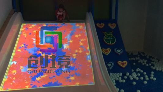 互动投影滑梯游戏