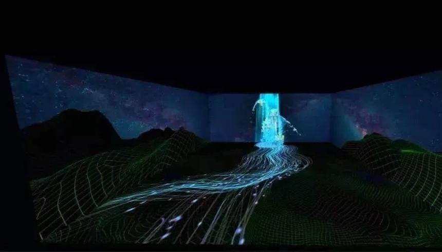 多媒体互动投影展《千里江山图》