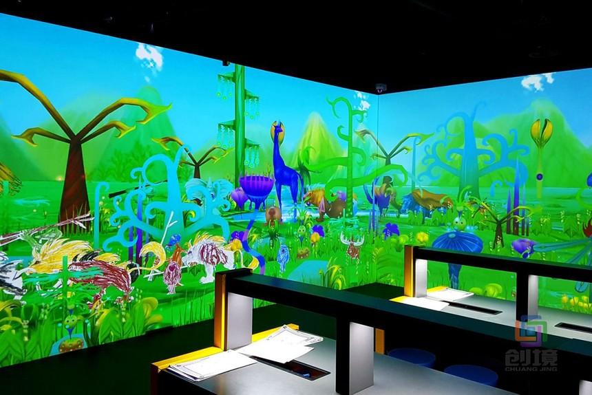 儿童互动投影游戏《抽象世界》