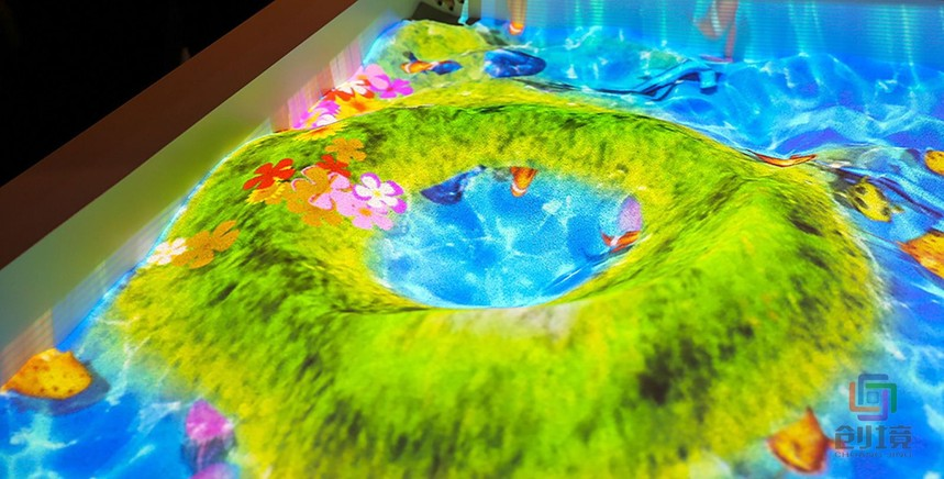 儿童互动投影游戏《奇幻沙海》