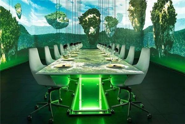创意餐厅桌面互动投影