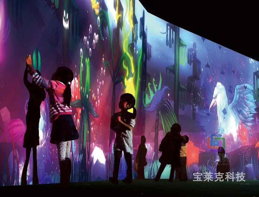儿童互动投影游戏《魔兽丛林》