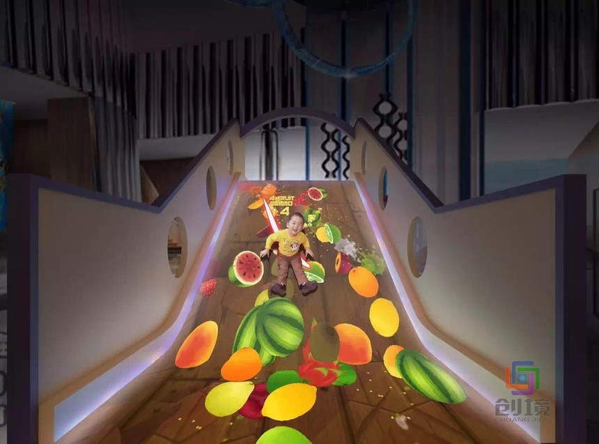 兒童互動投影游戲|動感滑梯創新的重要性