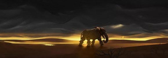 五个瓷瑞兽-大象