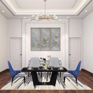 意式餐桌椅組合意式輕奢餐桌創意長方形現代簡約小戶型家用飯桌CK901