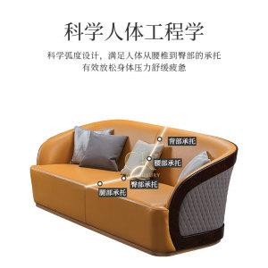 意式輕奢皮質客廳大小戶型沙發CK907