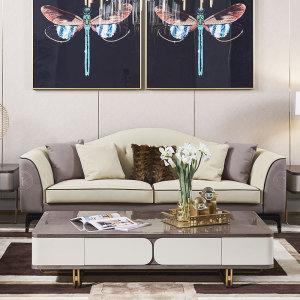 輕奢沙發簡約現代客廳皮質別墅北歐意式極簡沙發CK803