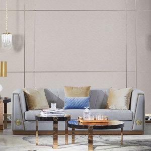 意式輕奢沙發客廳家具簡約布藝沙發組合設計師北歐風格套裝CK809