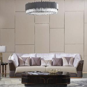 意式簡奢皮質沙發簡約現代客廳輕奢北歐大小戶型組合CK810