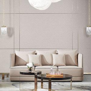 北歐皮沙發設計師意式極簡大小戶型別墅客廳沙發輕奢CK811