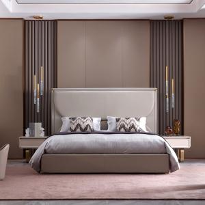 現代床簡約北歐簡奢風意式真皮床臥室床主臥軟包床經濟型雙人1.8床 CK301