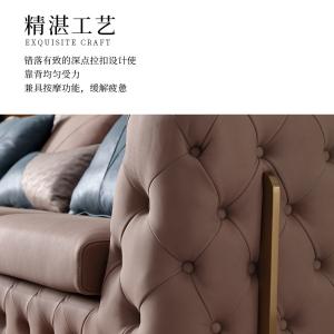 意式輕奢沙發客廳現代簡奢別墅小戶型組合CK223