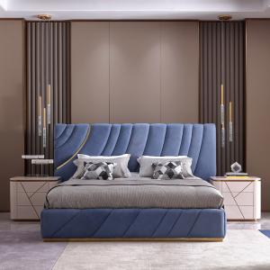 簡奢磨砂皮床臥室輕奢意式極簡風格軟床CK240