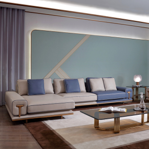 意式輕奢沙發磨砂皮現代簡約沙發組合大小戶型客廳家具CK235