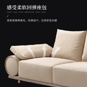 意式輕奢磨砂皮沙發后現代大小戶型客廳皮藝沙發奢品高端時尚別墅客廳整裝CK236