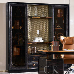 理享空間CK意式輕奢書桌現代簡約寫字臺極簡書房套裝組合CK802