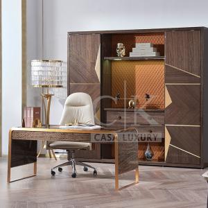 理享空間意式輕奢書桌高端家用時尚輕奢辦公桌書房電腦桌CK905