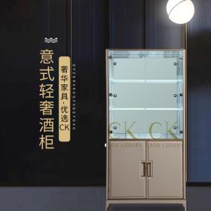 CK家具輕奢酒柜靠墻玻璃酒柜餐邊柜客廳后現代簡約飯廳酒柜儲物柜裝飾柜CK102