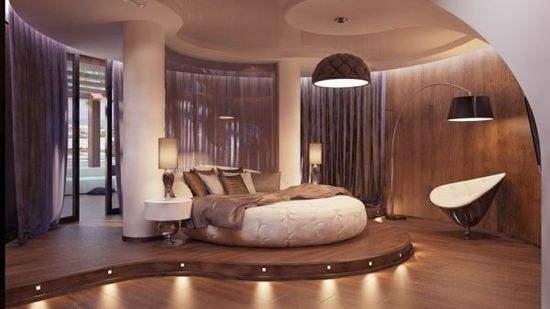 高雅风格,豪华装饰圆床布局,皇室典范,价格当然美丽
