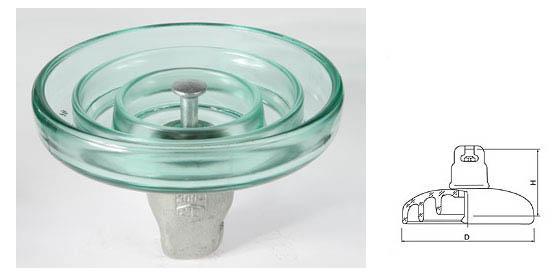 懸式玻璃絕緣子U120BP、LXHY4-120