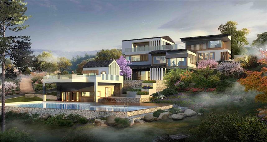 蓝田湖光小镇规划设计3