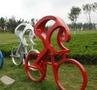 自行车健身运动主题奥林匹克雕塑