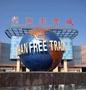 不锈钢地球仪雕塑--武汉自贸区
