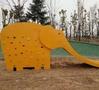 卡通大象动物造型不锈钢滑滑梯-济宁九巨龙地产