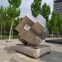 不锈钢鲁班锁雕塑--山东建筑学院