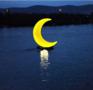 发光月亮雕塑