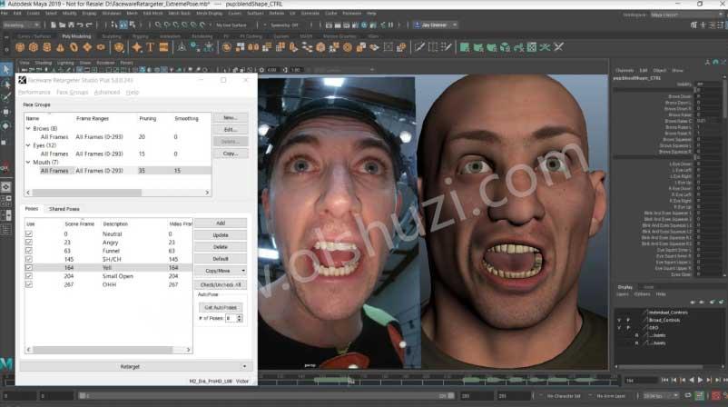 Faceware Retargeter数据匹配软件