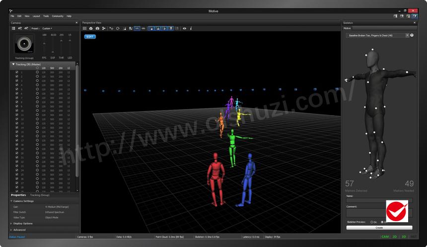 Motive Body身体捕捉软件