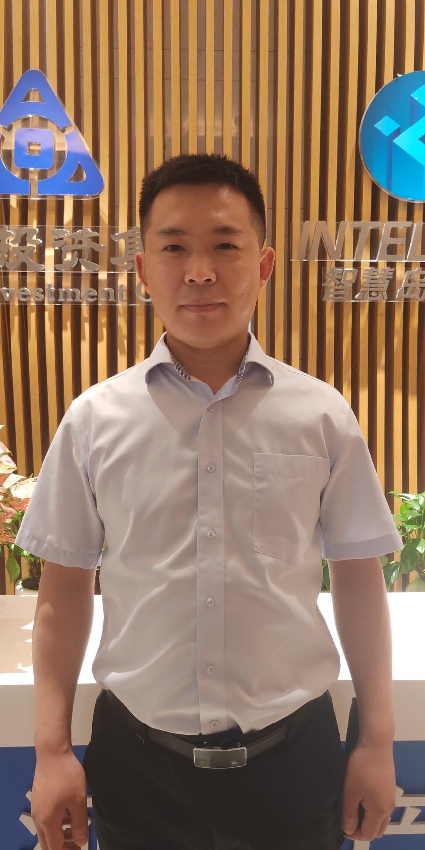 图为:河南信息产业投资有限公司 智慧数据运营总监 王智豪.jpg