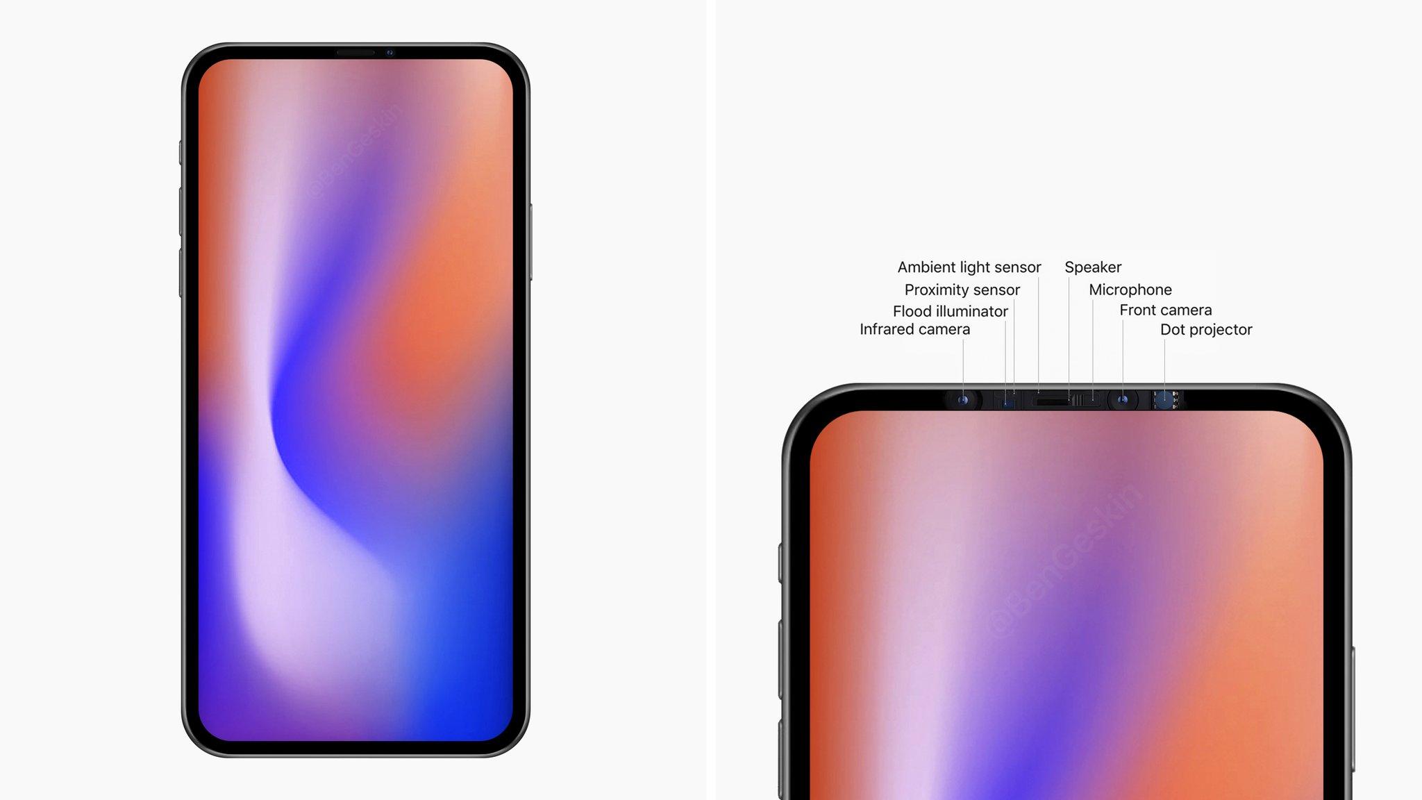 6.7 英寸 iPhone 原型机曝光:无刘海、Face ID 组件隐藏在顶部边框